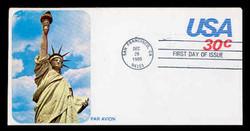 U.S. Scott #UC53 30c Statue of Liberty Envelope First Day Cover.  Sarzin Quadrocolorplus cachet.