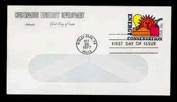 U.S. Scott #U584 13c Energy Conservation WINDOW Envelope First Day Cover.  Artmaster cachet.