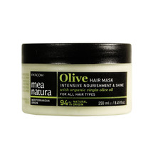 Mea Natura Olive Hair Mask 250mL Tub