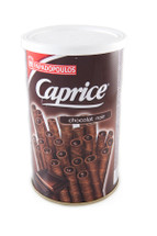 Papadopoulos Caprice Wafer Rolls with Dark Chocolate Cream 250g Tin