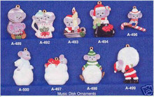 Ceramic molds, Alberta Christmas Ornaments 9 Mice