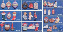 Ceramic molds, Alberta Christmas Ornaments 10 Mini