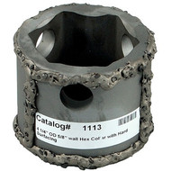 """RH 1113 Railhead Quick Connect Hex Collar, 4"""" OD 5/8"""" with Carbide Rubble/Hard Surface"""