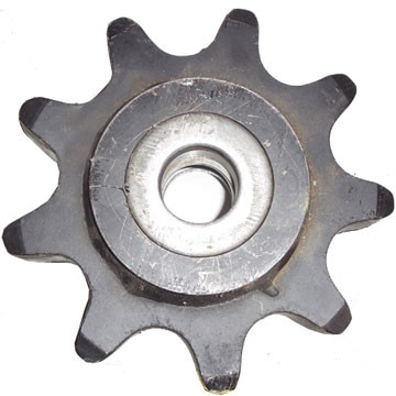 """DW140-654 9 Tooth One Piece Idler Sprocket Assembly 2.00"""" Chain"""