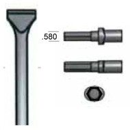 """AT L12G18 Scaling Chisel 2-1/2"""" Blade Hex Shank/Oval Collar"""