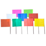 """2"""" x 3""""  Marking Flags with 21"""" Staff"""