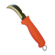 Hawkbill Splicer Knife with Orange Handle