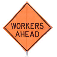 "B A4SW48COW-1-A ""WORKERS AHEAD"" Standard Grade 48"" Roll-Up Sign"
