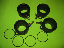 4x BRAND NEW 93-04 ZX600E 03-04 ZZR600 CARB HOLDERS INTAKE MANIFOLD BOOTS ZZR600