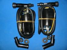 2x KAWASAKI Z1 KZ650 KZ750 KZ900 KZ1000 IGNITION COIL W/ PLUG CAPS