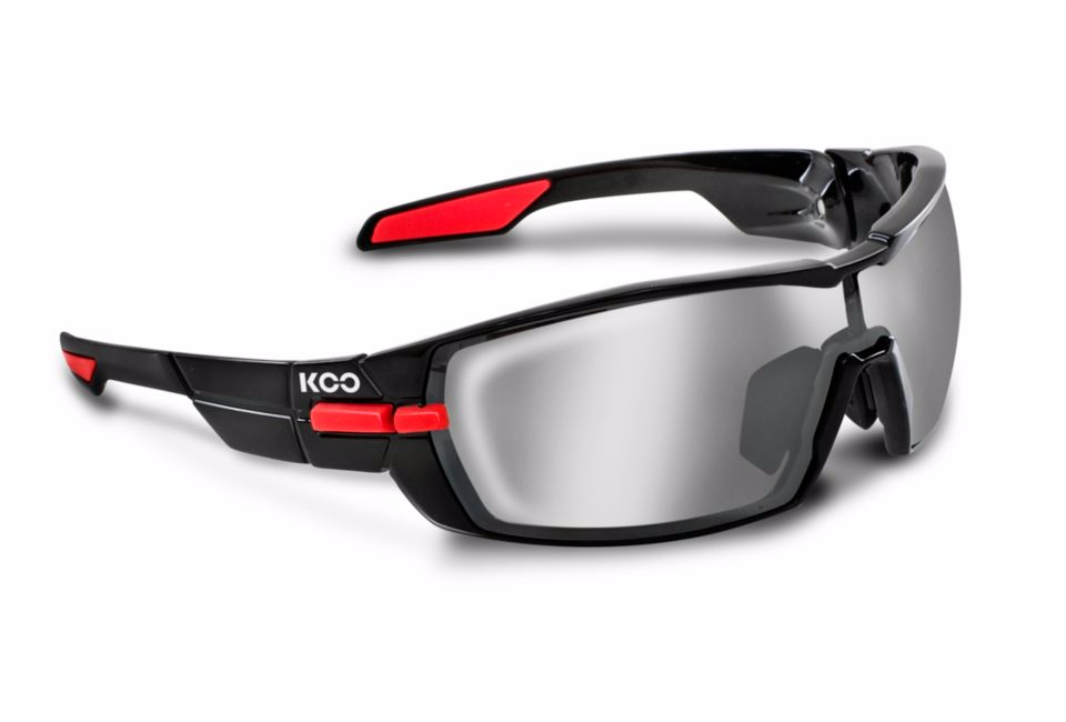 kask koo open black red smoke lense