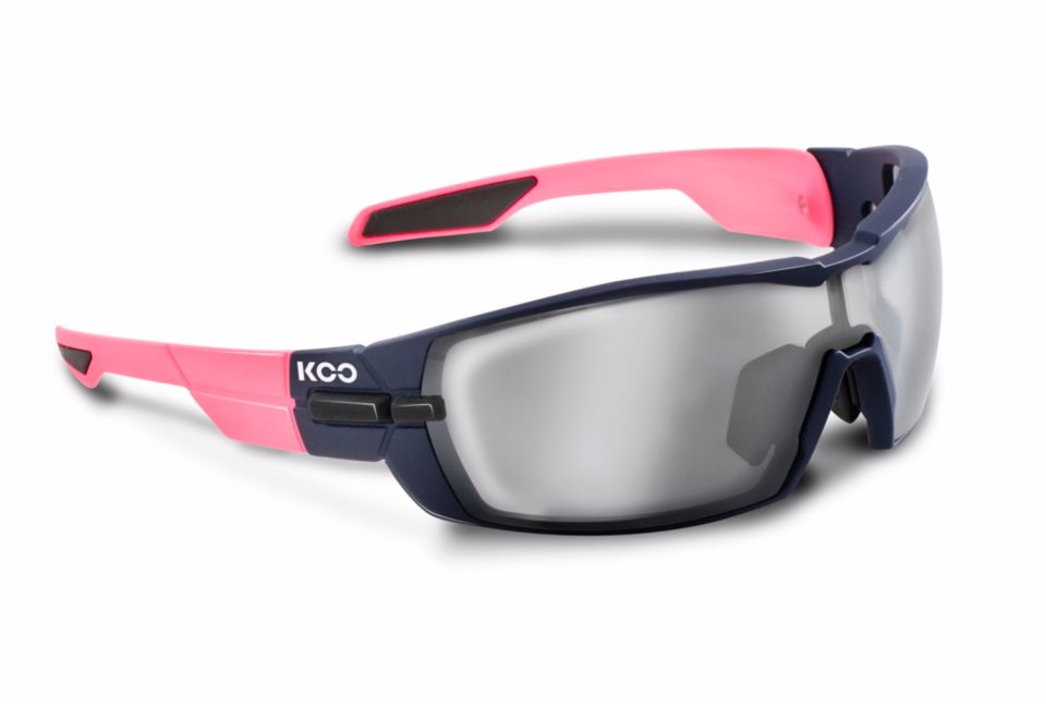 Kask Koo Open pink navy with silver mirror lense
