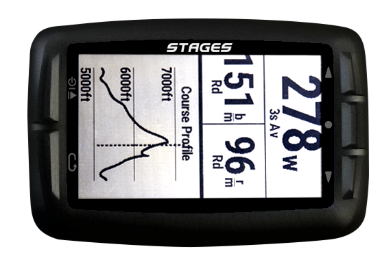 stages dash cycle computer map view