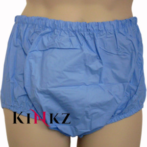 Blue Pull Up Plastic Pants ABDL Adult