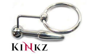 STAINLESS STEEL URETHRAL PROBE & COCK RING BONTAGE FETISH