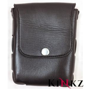 Black soft leather belt pouch wallet bondage bdsm slave master fetish