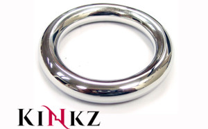 STAINLESS STEEL ROUND COCK RING 45MM BDSM FETISH