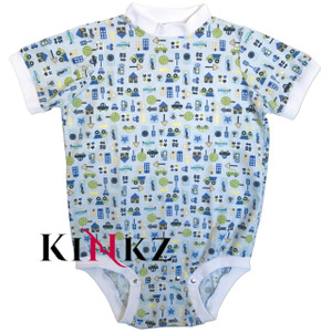 Cuddlz Traffic Pattern brushed cotton onesie for adults ABDL clothing adult baby diaper lovers