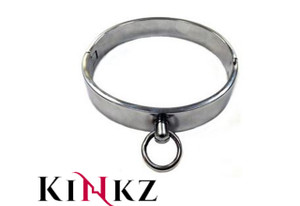Stainless steel bondage collar slave bdsm fetish