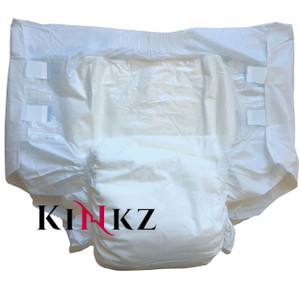 Drydayz by Cuddlz All White Adult Baby Nappy Size Medium abdl diapers for adults nappies diaper fetish
