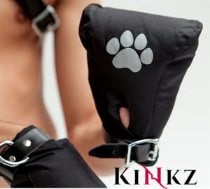 Mister B Padded Canvas Puppy Fist Mitts Pup Play BDSM Bondage