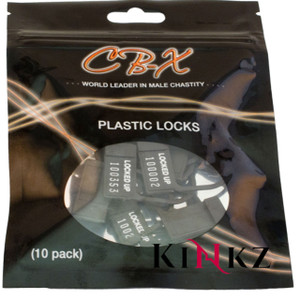 CB-X 10 Spare Plastic Chastity Cage Locks Male Cock Chastity Bondage BDSM