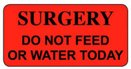 CS-1 Cage Stickers - Surgery Do not feed or water today