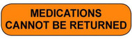 C-27 Medication Instruction Sticker - Medications Cannot Be Returned