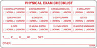 "LR-40A: Physical Exam Checklist ""A"" Series"