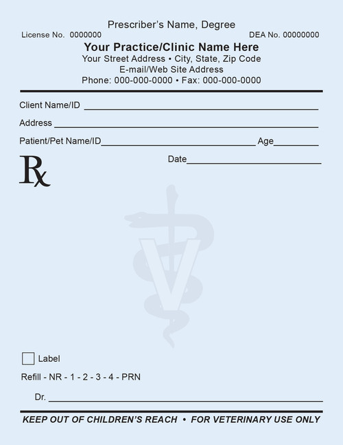 Rx1 prescription pad positive impressions for Template for prescription pad