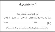 VBC200 - Generic Appointment Card