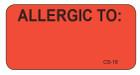 CS-16 - Cage Stickers - Allergic To: