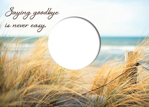 SDBEACH - Die-Cut Sympathy Card