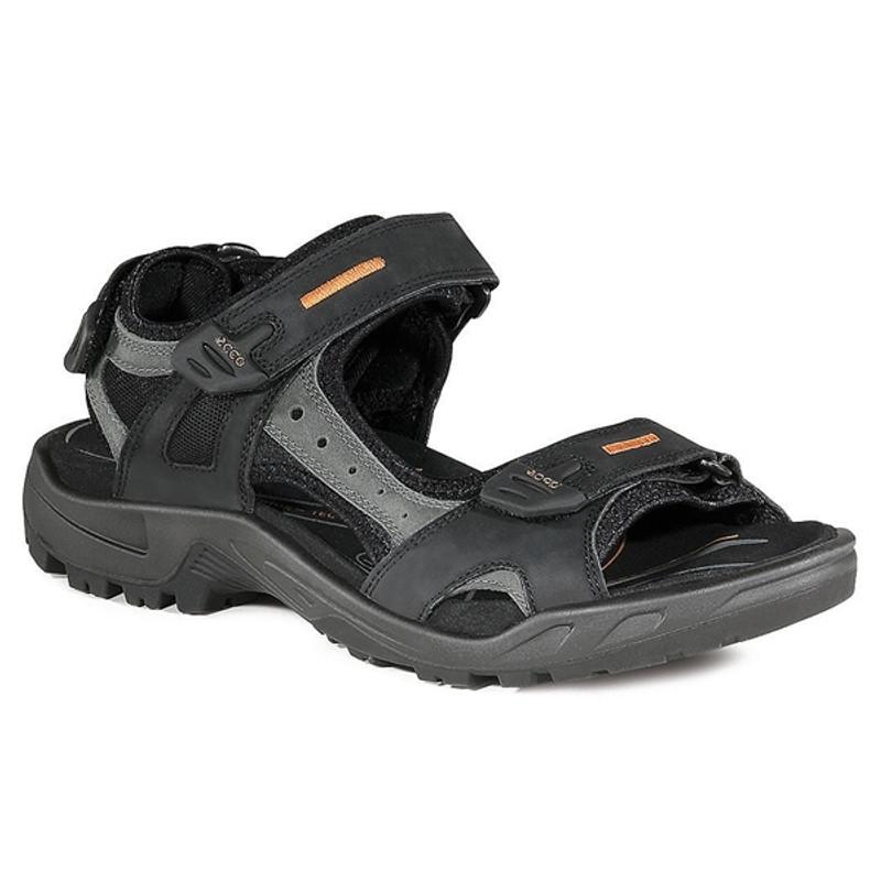 ECCO Men's Offroad Yucatan Sandal - Black / Mole / Black