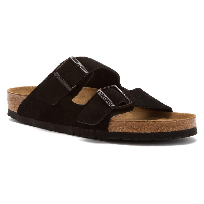 Birkenstock Arizona Soft Footbed - Black Suede (Narrow Width)
