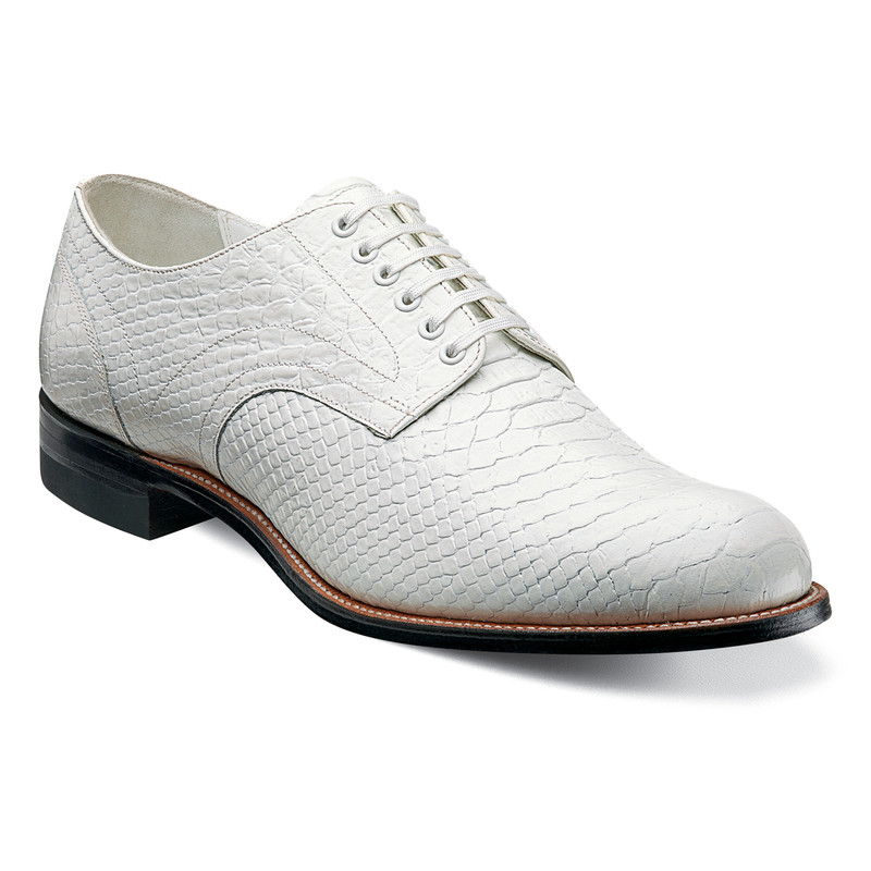 Stacy Adams Men's Madison Ox with Anaconda - White