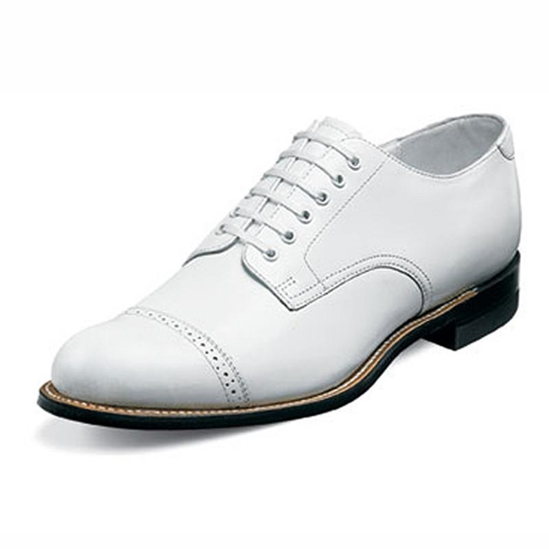 Stacy Adams Men's Madison Cap Toe Oxford - White