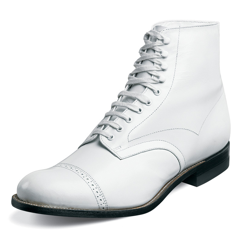 Stacy Adams Men's Madison Ankle Boot - White