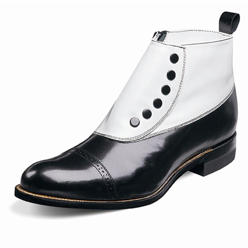 Stacy Adams Men's Madison Demi Boot - Black / White