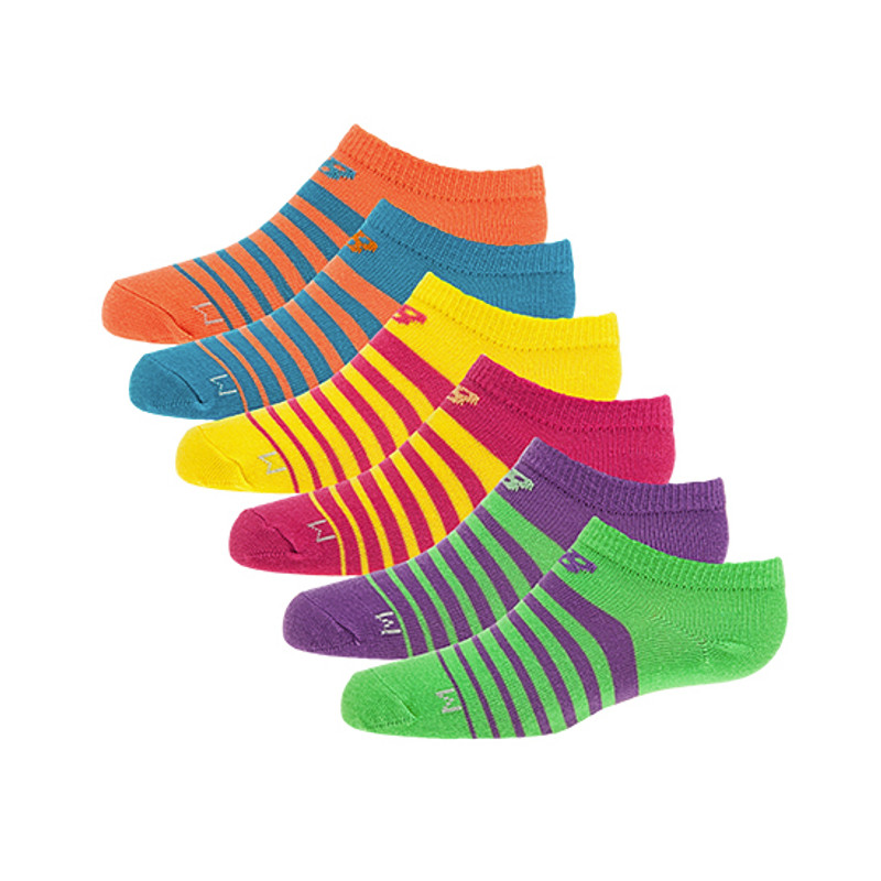 New Balance Kids Now Show Socks (6 Pack) - Assorted Colors