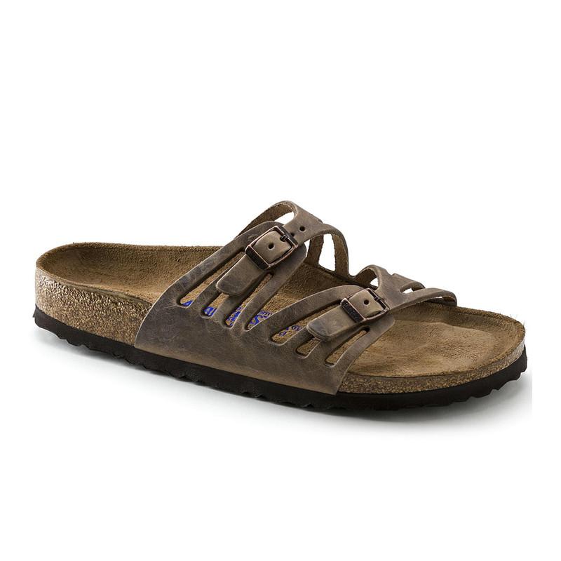 Birkenstock Women's Granada Soft Footbed - Tobacco Oiled Leather