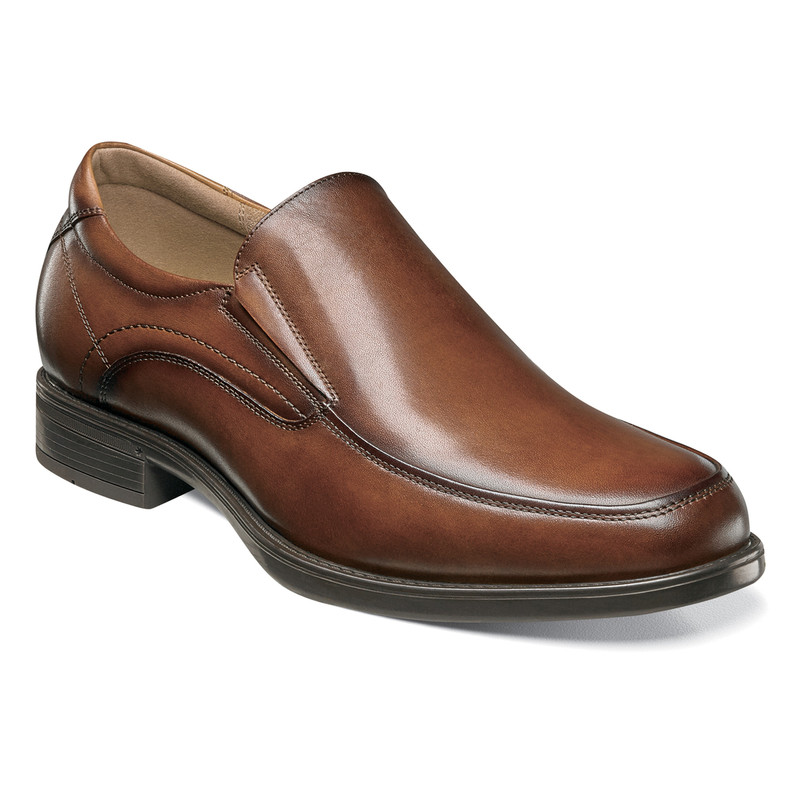 Florsheim  Men's Midtown Moc Toe Slip On - Cognac
