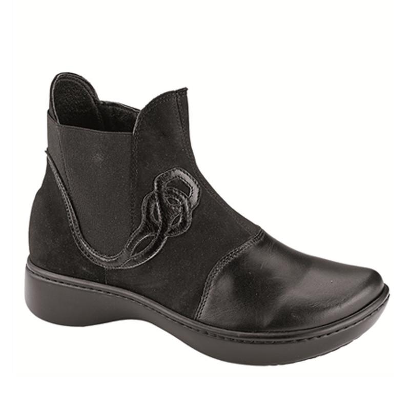 Naot Women's Limia - Black Raven Leather / Black Nubuck