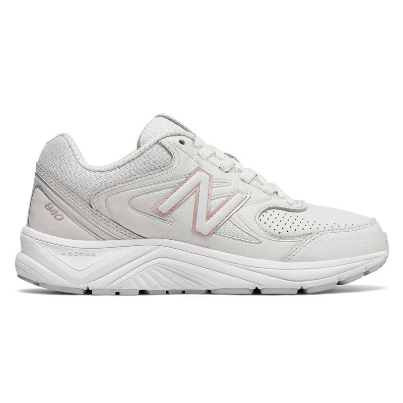 New Balance 840v2 Women's Walking - White with Rose Gold