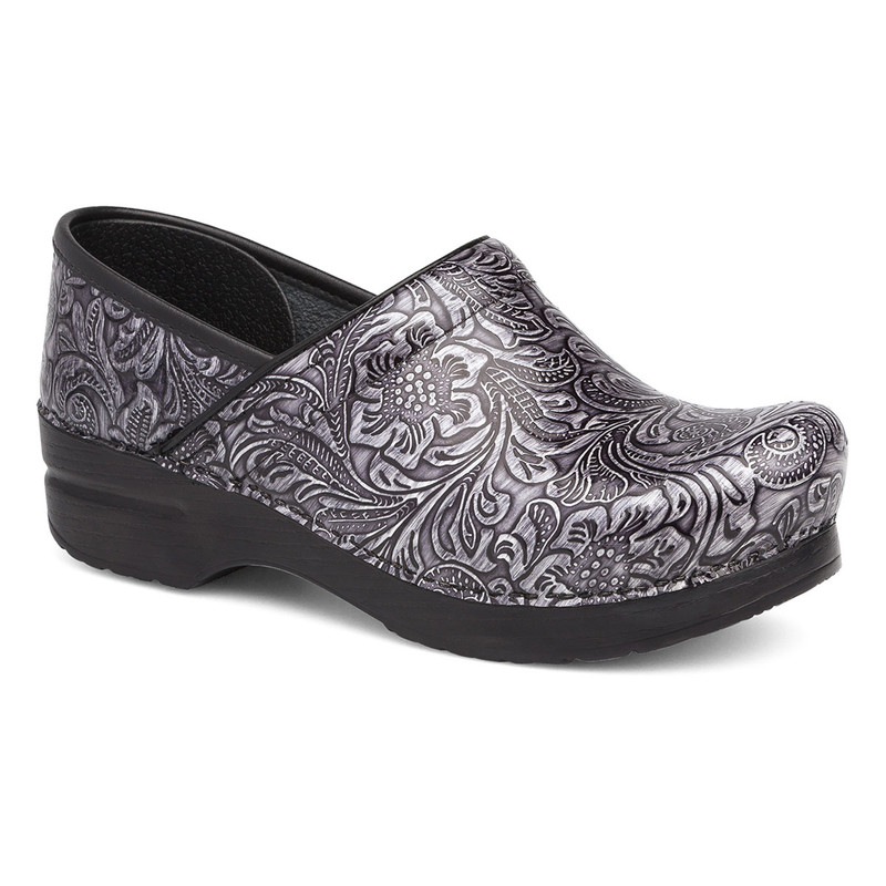 Dansko Women's Professional - Grey Tooled Patent Leather