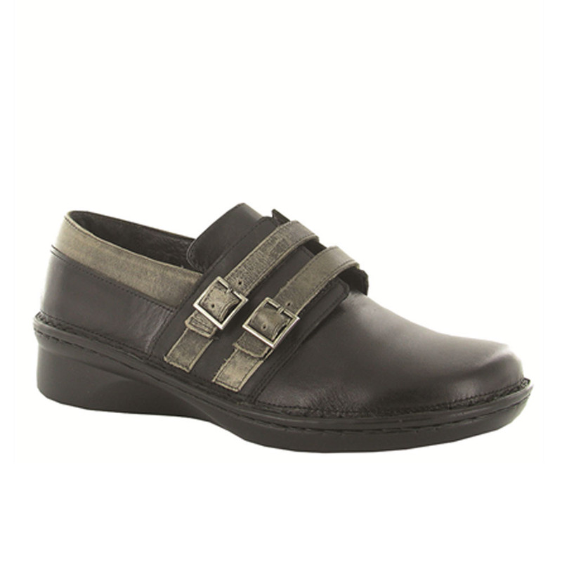 Naot Women's Celesta - Black Madras / Oily Coal / Vintage Gray