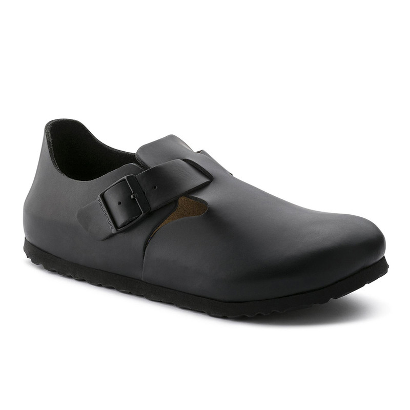 Birkenstock London  - Hunter Black Soft Footbed  (Narrow Width)
