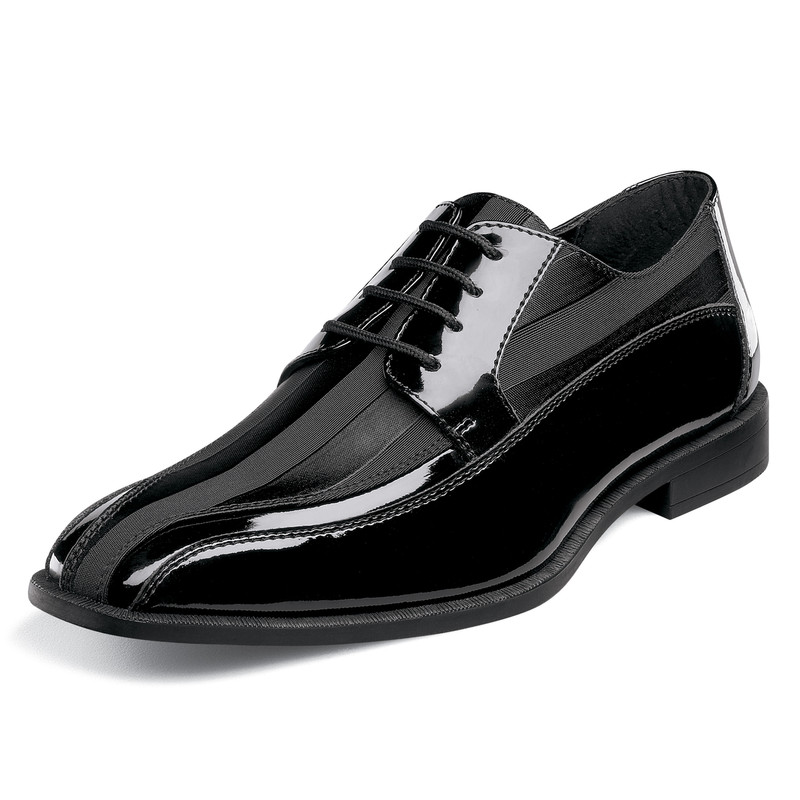 Stacy Adams Men's Royalty Bicycle Toe Oxford - Black Patent