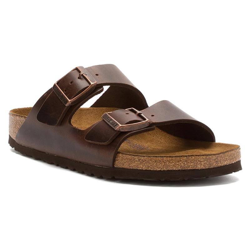 Birkenstock Arizona Soft Footbed - Brown Amalfi Leather (Regular Width)