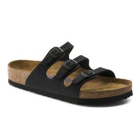 Birkenstock Women's Florida Soft Footbed - Black (Regular Width)